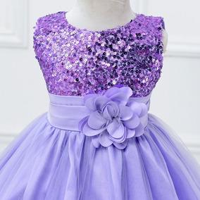 Vestido Niña Fiesta, Lila, Elegante, Sin Mangas, Cotton, 10