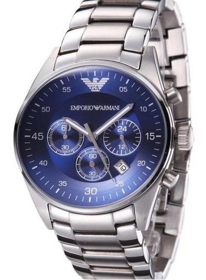 Relógio Emporio Armani Ar5860 Azul Original Eua Completo