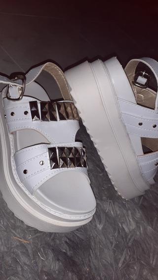 Sandalia Plataforma Blancas