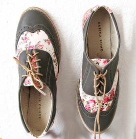Zapato Bostonianos De Piel, Todas Tallas 22 A 26mex-5 Al 9us