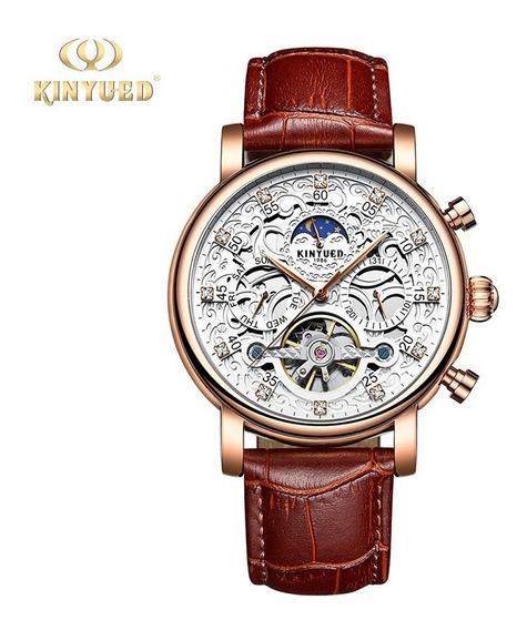 Reloj Para Hombre Automático Tourbillon Kinyued Cfe/bc J026