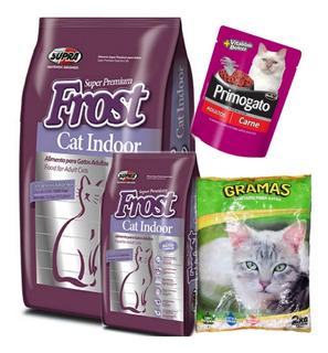 Frost Cat Indoor 7.5kg + 1kg Con Piedra Gramas Y Pouch