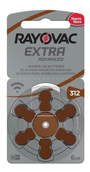 60 + 12 Baterias Auditivas Rayovac Tamanho 312