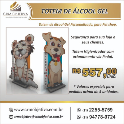 Totem De Álcool Gel Personalizado.