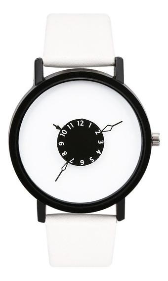 Relógio Minimalista - Criativo Branco