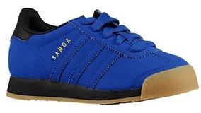 Tenis adidas Samoa C C75413 Color Azul Para Niño.