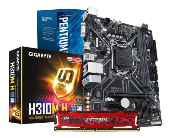 Kit Intel Pentium G5400 Mb H310m 8gb Bls 2400mhz