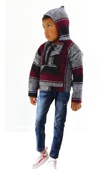 Suéter Ponchos Artesanales Para Niños 6 Pzs