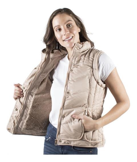 Chaleco Mujer Greenlander Vpol6400 Gorro Y Fur Desmontable