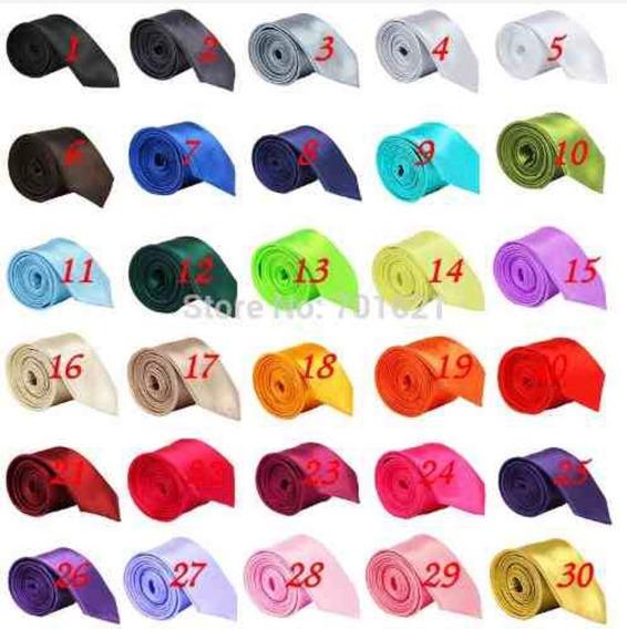 Corbatas Caballero Slim Delgadas Varios Colores