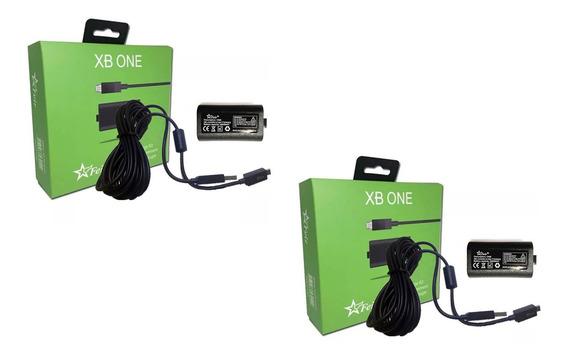 2 Bateria Cabo Carregador Controle Xbox One Play & Charge