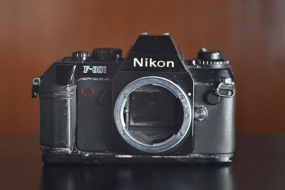 Camera Analogica Nikon F301 Para Peças