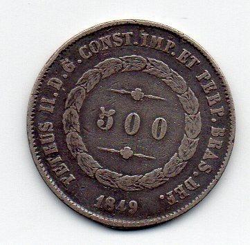 500 Reis 1849 C. Data Emendada