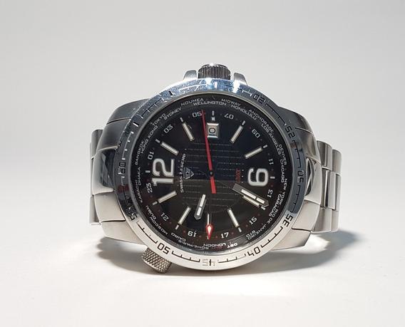 Relógio Swiss Legend Gmt World Timer Original