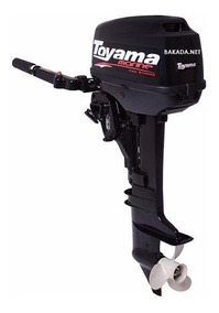 Motor Popa Toyama 3,6 Hp Tanque Embutido Rabeta Curta Barco