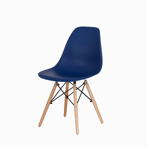 Cadeira Charles Eiffel Eames Wood Design Base Madeira Várias Cores Sala Jantar Cozinha