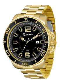 Relógio X Games Masculino Xmgs1019 P2kx Big Case Dourado