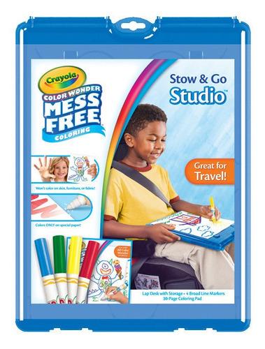 Imagen 1 de 3 de 4 Marcadores Color Wonder Crayola Stow & Go + Hojas