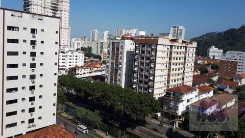 Apartamento Com 1 Dormitório, 49 M² - Venda Por R$ 350.000,00 Ou Aluguel Por R$ 1.650,00/mês - Campo Grande - Santos/sp - Ap1408
