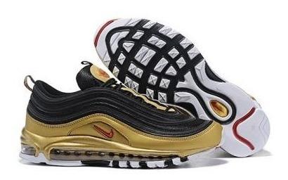 Botas Nike Air Max 97 Qs Black/varsity Red/metallic Gold