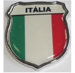 Emblema Itália Escudo Resinado E Cromado