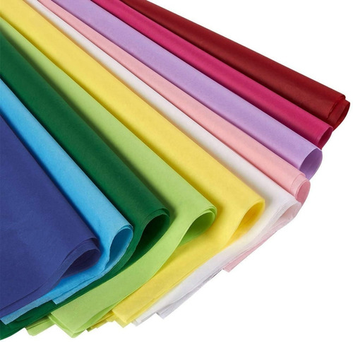 Imagen 1 de 6 de Papel De Seda Colores 50 Hojas 50x70cm Resma 1era Calidad