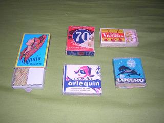 Lote 5 Caixas De Fósforos De Cera Antigas Uruguaia Mexicana