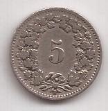 Suiza Antigua Moneda De 5 Rappen Año 1906 !!