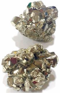 Lote Com 2 Piritas Qualidade Extra 130g 40mm Pedras Naturais