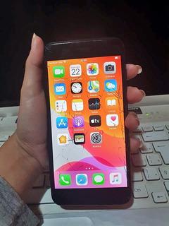 iPhone 7 Plus 128gb Tela Trincada, Funcionando Tudo Com Nf