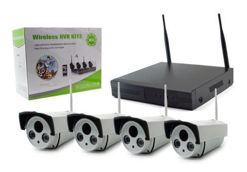 Kit 4 Cámaras Video Vigilancia Cctv Nvr Wireless Wifi - T V