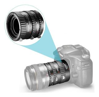 Tubos Extension P/ Canon Macro Autofoco. Set De 3 Tubos