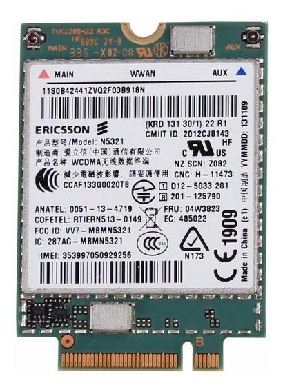 Placa 3g Lenovo N5321 Thinkpad T540 X240s X230s T440