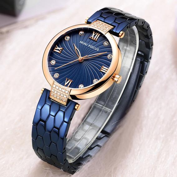 Mf0186l Moda Mulheres Quartz Relógios De Pulso Azul
