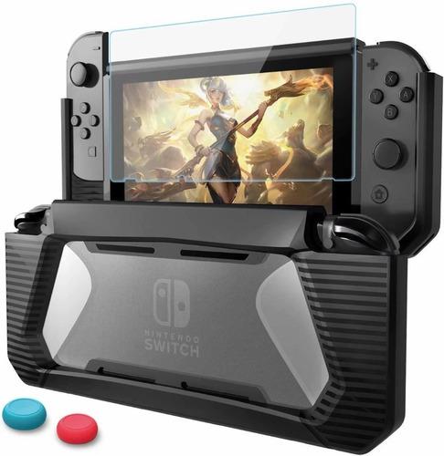Imagem 1 de 8 de Case Capa Estojo E Película Vidro Para Nintendo Switch+2grip
