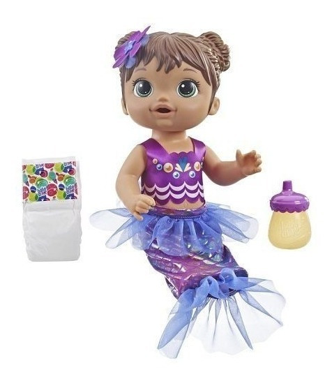 Boneca Baby Alive - Linda Sereia - Morena - E3691 - Hasbro