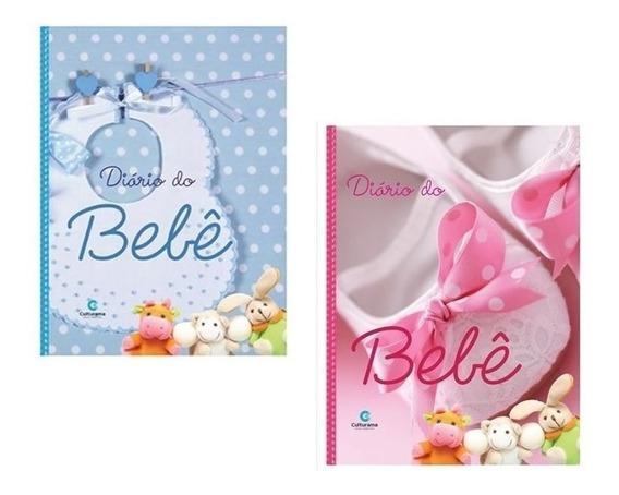 Kit 2 Diários Do Bebê Culturama Álbum Fotos Rosa E Azul