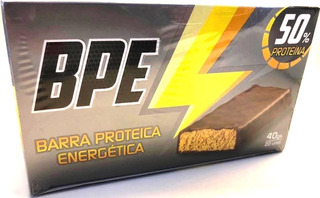 Barra Proteica Energetica Bpe 50 % Proteina Gym Fitness Running X 20 Unidades