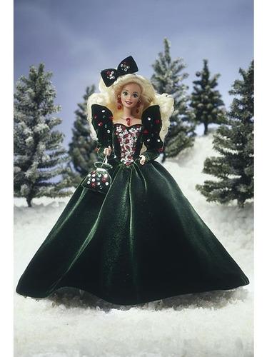 Imagem 1 de 6 de 1991 Happy Holidays Barbie Doll