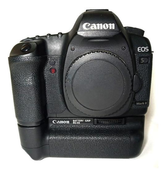 Câmera Canon Eos 5d Mark Ii Corpo Com Grip Original Seminova