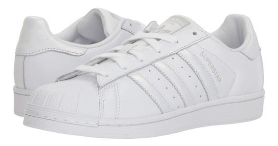 adidas Original Zapatilla Mujer Superstar Blanco / Tiza Fkr