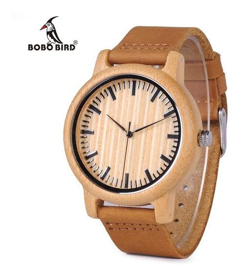 Relógio Bobo Bird Bambu Madeira A21 Original Unissex
