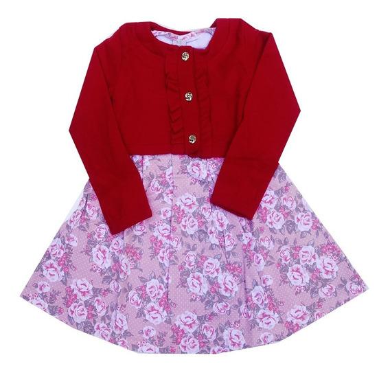 Roupa Infantil Kit 2 Vestido Menina Inverno Manga Longa
