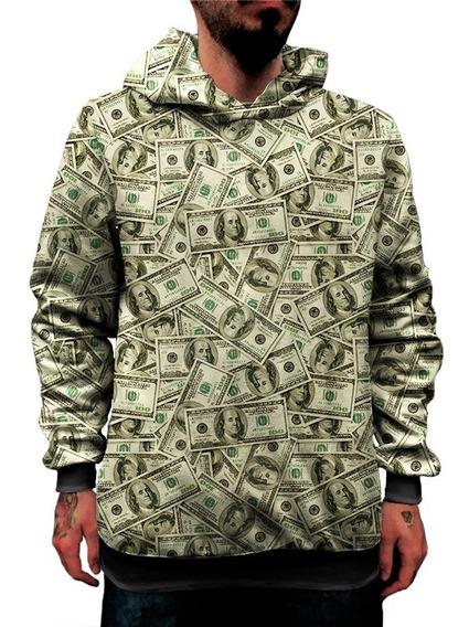 Blusa Moletom Money Swag Dollar Cash Plata Dinheiro 3d Pablo