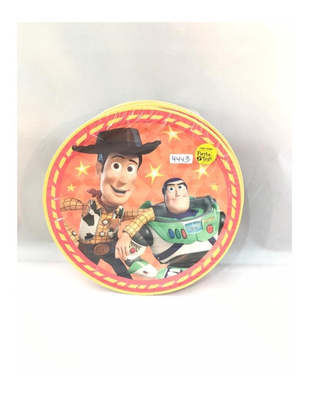 36 Platos Toy Story Buzz Woody 7in Pastel Infantil Fiesta Gm
