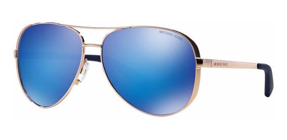 Lentes Michael Kors Mk5004 Chelsea 100325 Azul/oro Rosa Dama