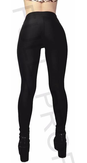 Calza Legging Negra Brillosa 100% Lycra + Envio Gratis !