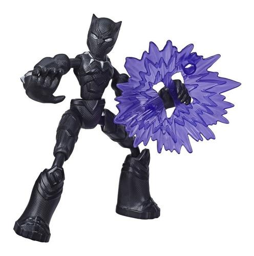 Imagem 1 de 2 de Boneco Marvel Avengers Bend And Flex Pantera Negra Hasbro