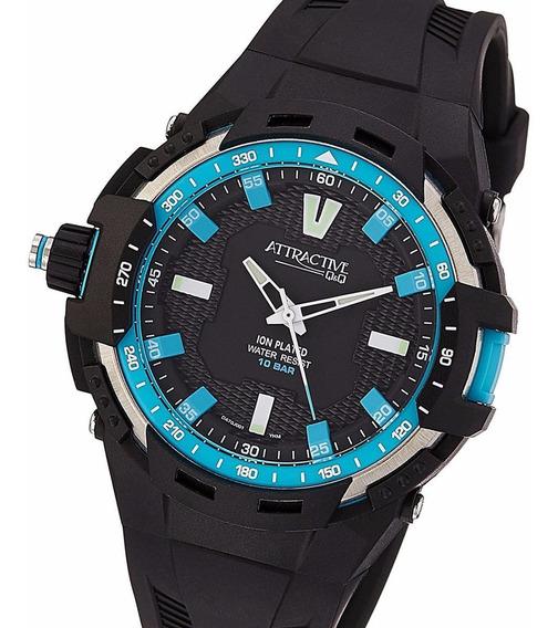 Reloj Q&q Da70j001y 10 Atm Modelo Attractive By Citizen Envi