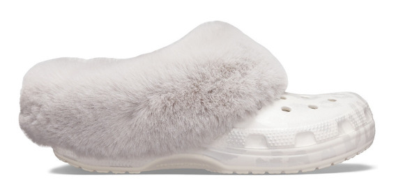 Zapato Crocs Dama Classic Mammooth Luxe Metallic Perla